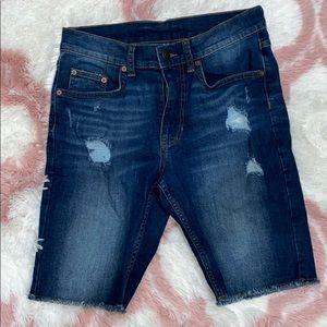 George- Men's distressed Jean shorts